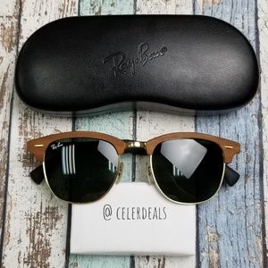 Clubmaster Wood RB3016-M 1181 Ray Ban Sun/VIE840